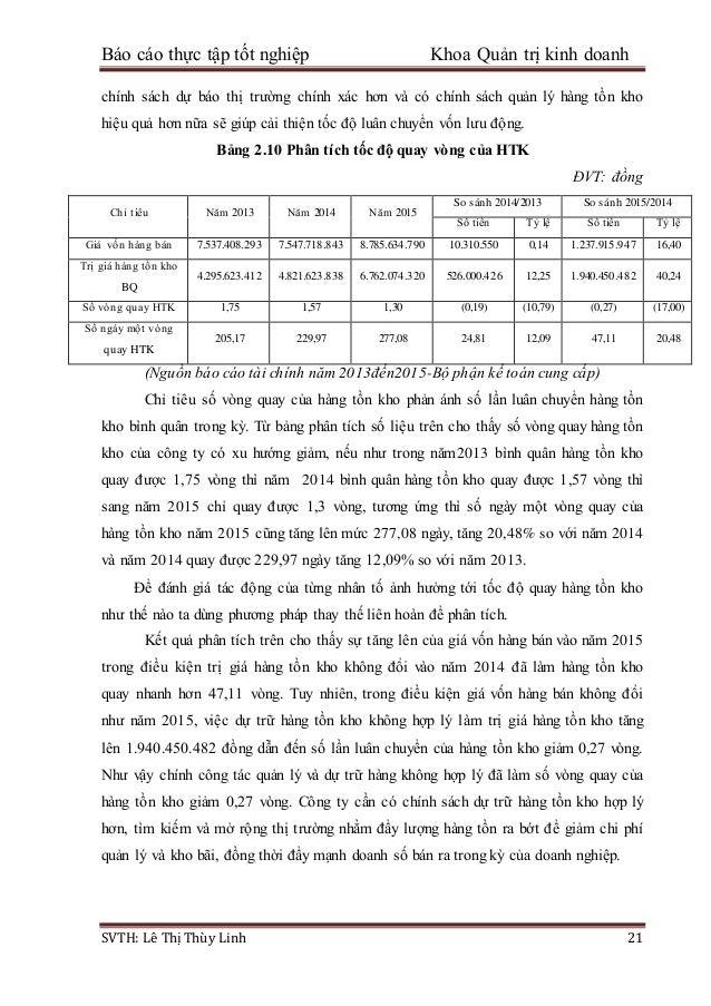 Báo cáo thực tập tốt nghiệp Khoa Quản trị kinh doanh SVTH: Lê Thị Thùy Linh 21 chính sách dự báo thị trường chính xác hơn ...
