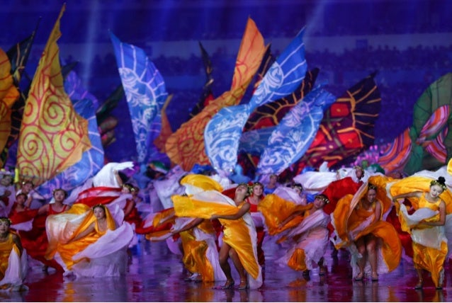 Nanjing 2014 - Chinese Singer Lei Jia launches the show of the  Opening Ceremony  Diego Melendreras/IOC Young Reporters