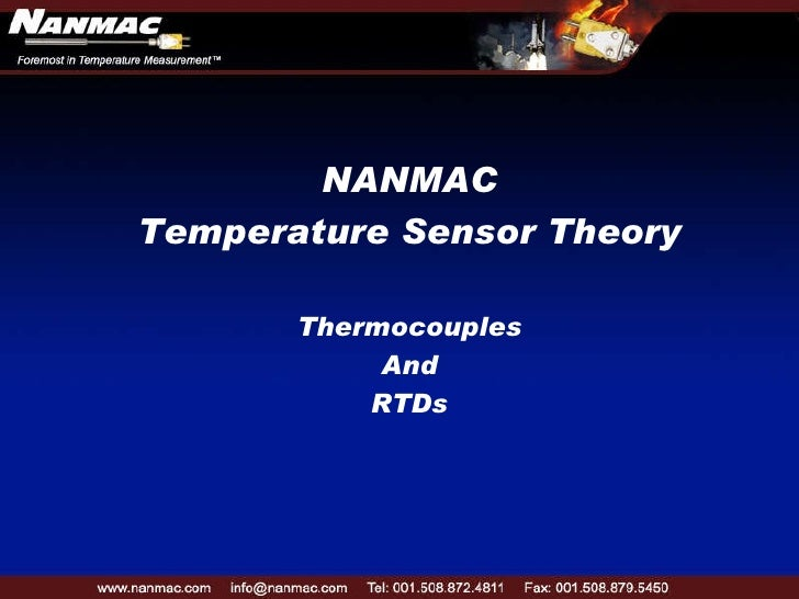 NANMAC Temperature Sensor Theory Thermocouples And RTDs