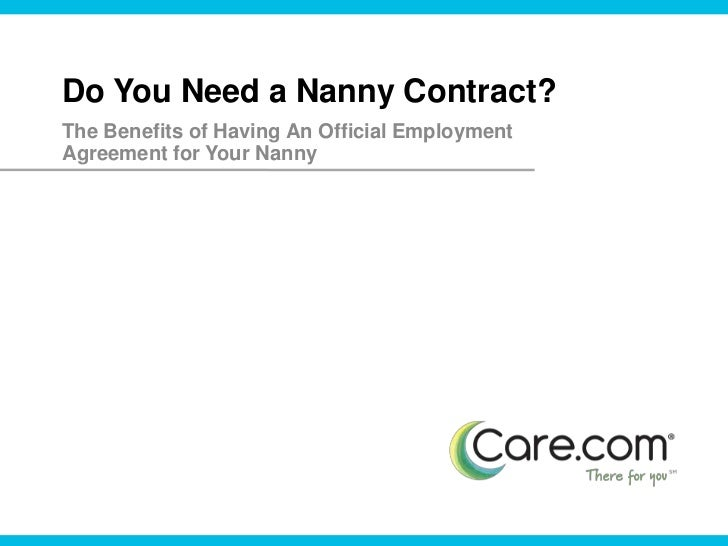Nanny Contract – Nanny Agreement Contract