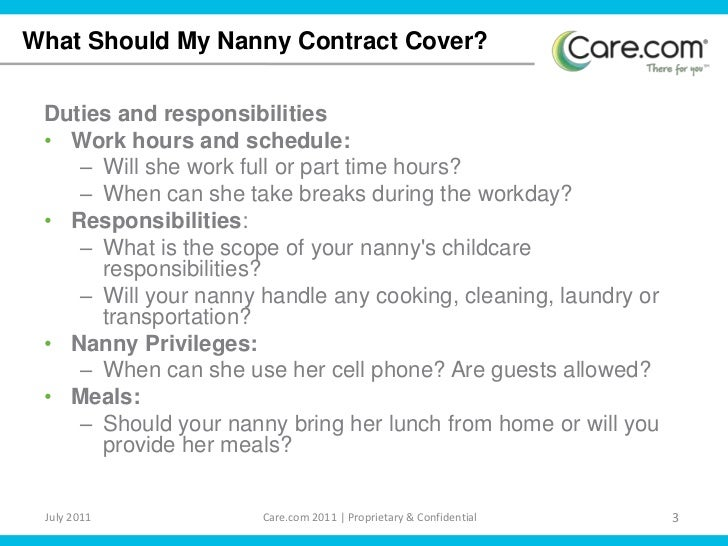 Nanny Contract – Nanny Contracts