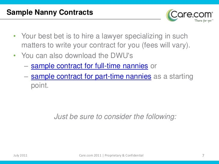 sample nanny contracts