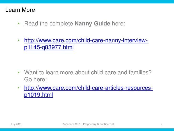 Nanny Interview Questions – Nanny Interview Questions