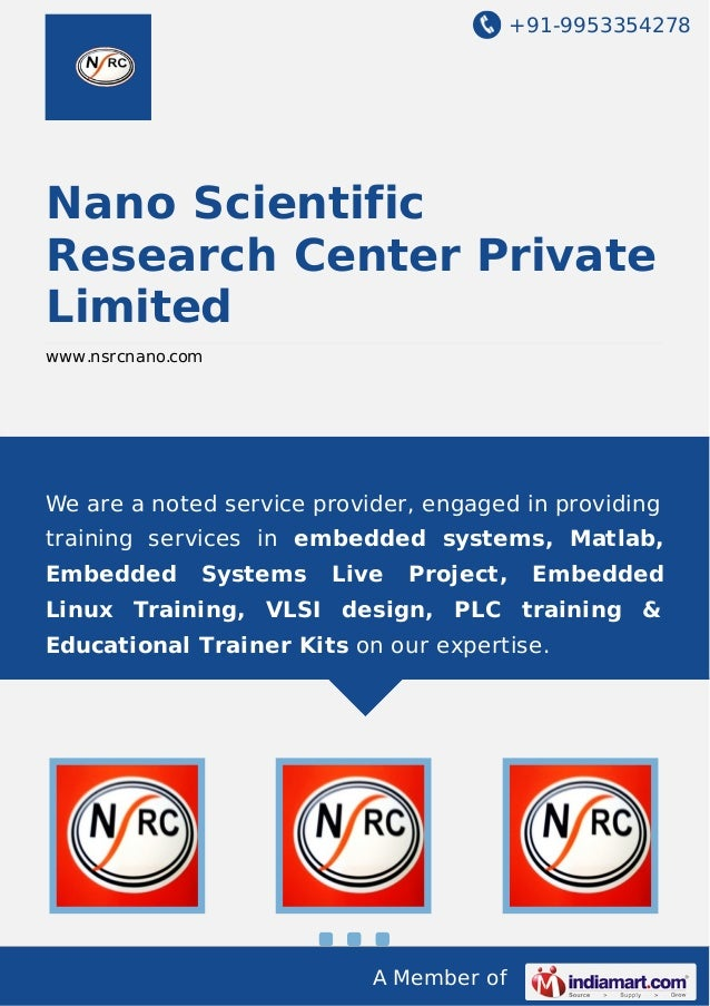 +91-9953354278  Nano Scientific Research Center Private Limited www.nsrcnano.com  We are a noted service provider, engaged...