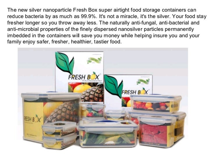 Nano Silver Food Storage Containers Listitdallas