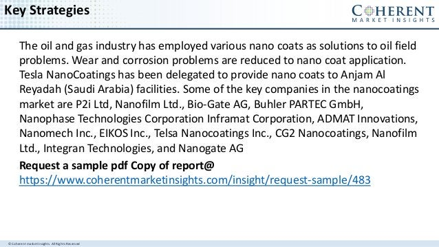 © Coherent market Insights. All Rights Reserved Key Strategies The oil and gas industry has employed various nano coats as...