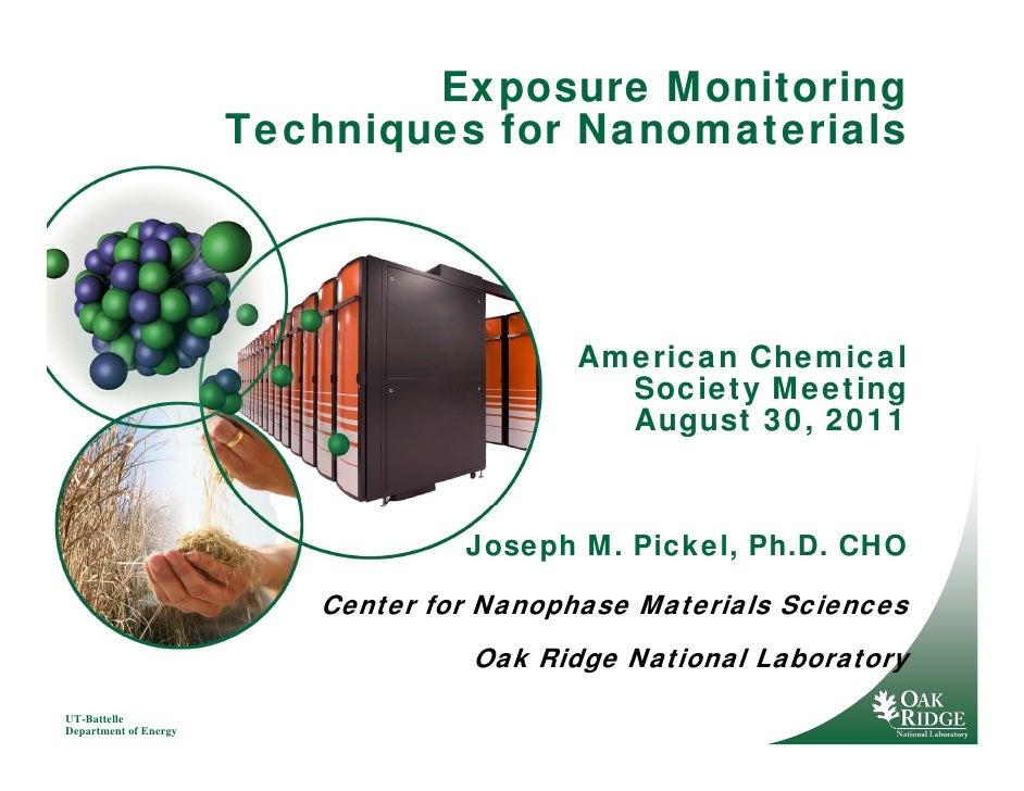 Exposure Monitoring                       Techniques for Nanomaterials                                           American ...