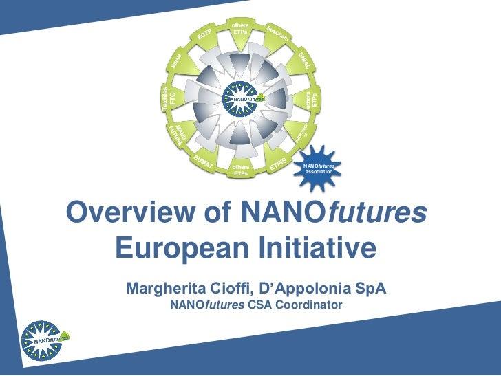 NANOfutures                             associationOverview of NANOfutures   European Initiative   Margherita Cioffi, D'Ap...