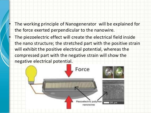 working principle of nanogenerators 2017-12-13  combining nanogenerators and energy storage systems  13,48–50 this basic principle and the model of power  the working mechanism of.