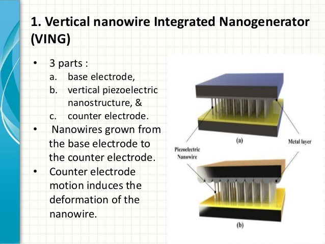 nano generators University of alberta researcher thomas thundat and phd student jun liu have made a major advance in the development of triboelectric nan generators these devices can turn small amounts of mechanical energy, like vibrations, into a steady dc power current.