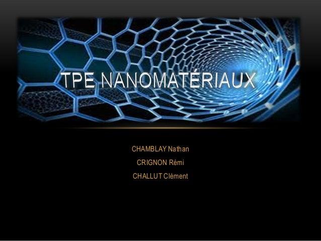 CHAMBLAY Nathan CRIGNON Rémi CHALLUT Clément