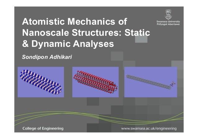 Atomistic Mechanics ofNanoscale Structures: Static& Dynamic AnalysesSondipon Adhikari