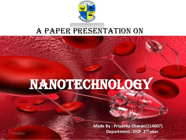 essay on applications of nanotechnology Nanotechnologyis the study of extremely small structures, having size of 01 to 100 nm nano medicine is a relatively new field of science and technology brief explanati.