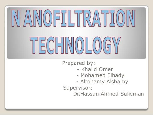 Applications and pdf principles nanofiltration