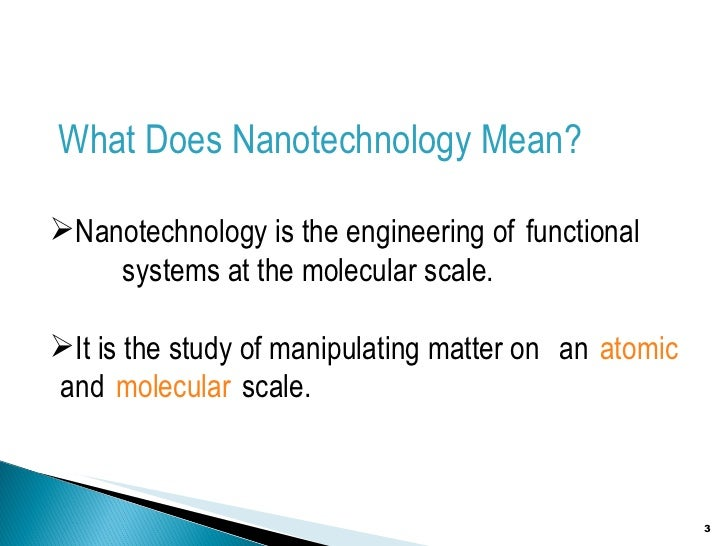 The future of nanotechnology for humankind