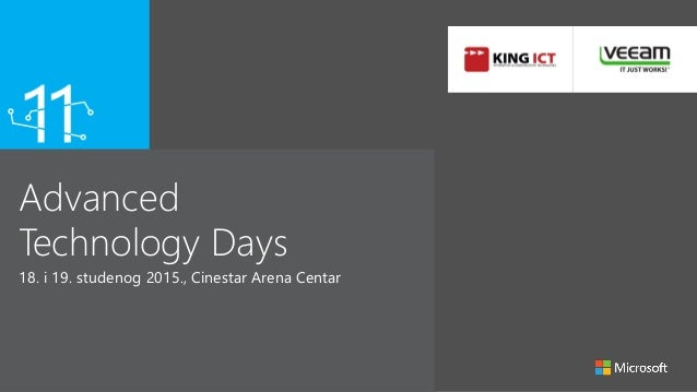 Advanced Technology Days 18. i 19. studenog 2015., Cinestar Arena Centar