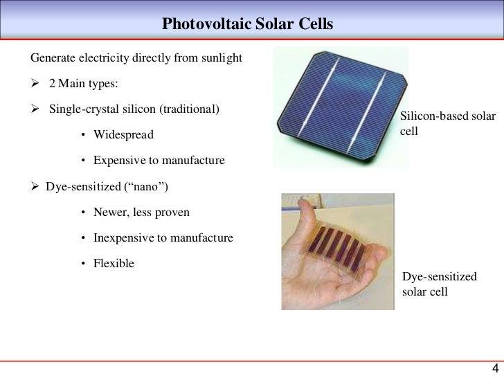 Nano solar cells