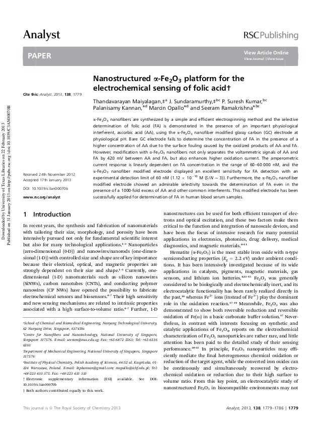 Analyst View Article Online  PAPER  View Journal   View Issue  Downloaded by University of Texas Libraries on 22 February ...