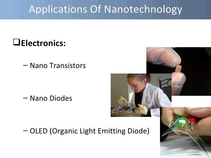 Applications Of NanotechnologyEnergy:  – Batteries  – Fuel Cells  – Solar Cells