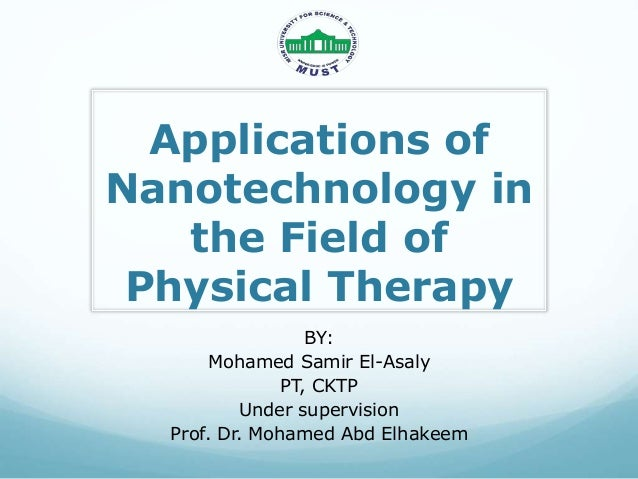Nanotechnology applications in physical therapy