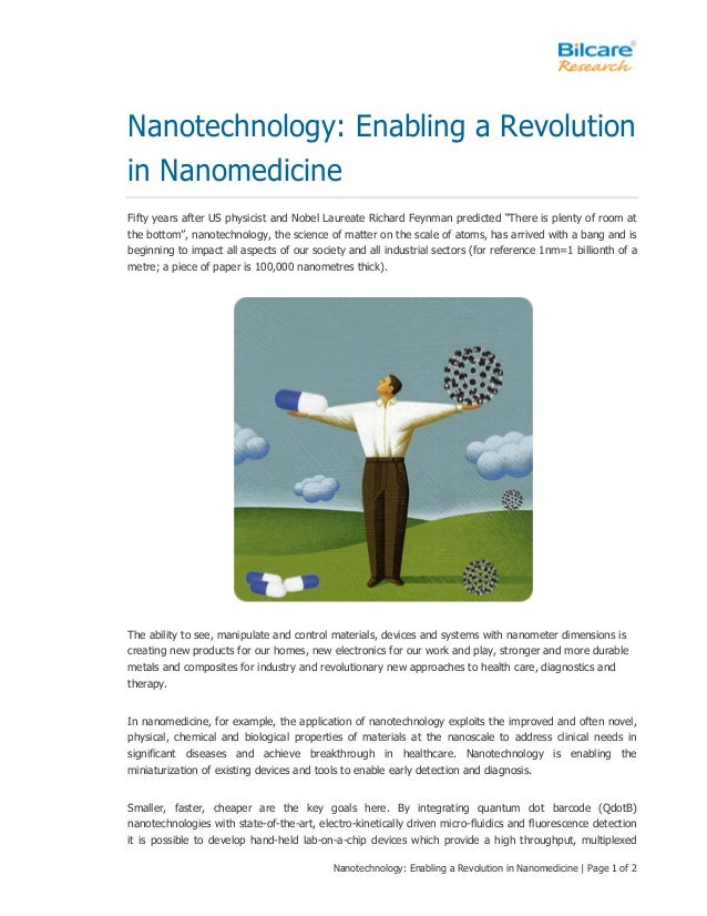Nanotechnology: Enabling a Revolution in Nanomedicine | Page 1 of 2 Nanotechnology: Enabling a Revolution in Nanomedicine ...