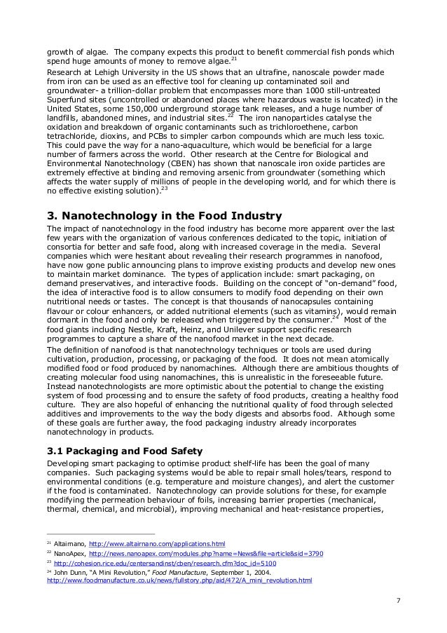 nanotechnology in agriculture and food  8