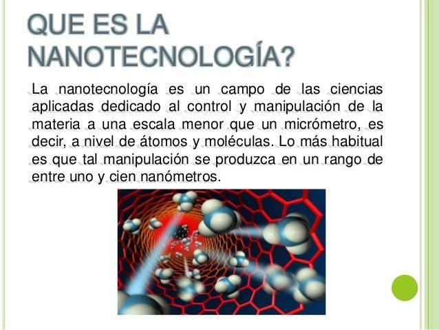Nanotecnolog 237 A Resumen