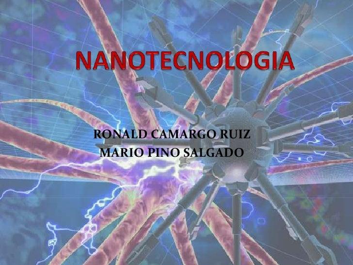 RONALD CAMARGO RUIZ  MARIO PINO SALGADO