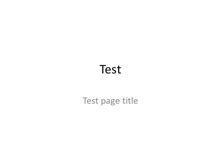 Test<br />Test page title<br />