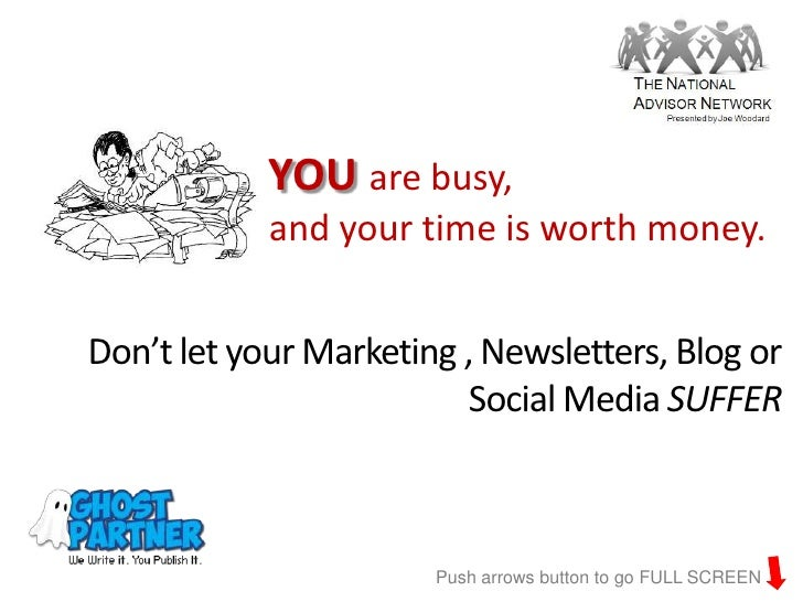 YOU are busy,            and your time is worth money.Don't let your Marketing , Newsletters, Blog or                     ...