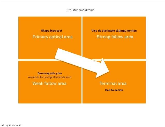 Struktur produktsida                                 Skapa intresset                     Visa de starkaste säljargumenten ...
