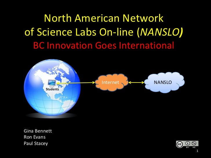 North American Network of Science Labs On-line (NANSLO)BC Innovation Goes International<br />Gina Bennett<br />Ron Evans<b...