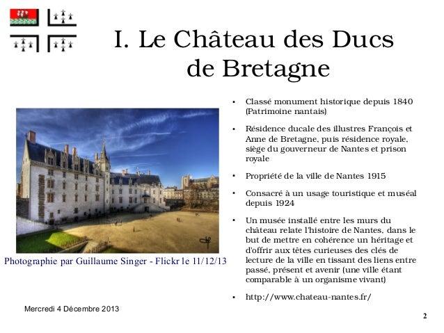 I.LeChâteaudesDucs deBretagne ●  ●  ●  ●  ●  Photographie par Guillaume Singer - Flickr le 11/12/13  ●  Mercredi 4 D...