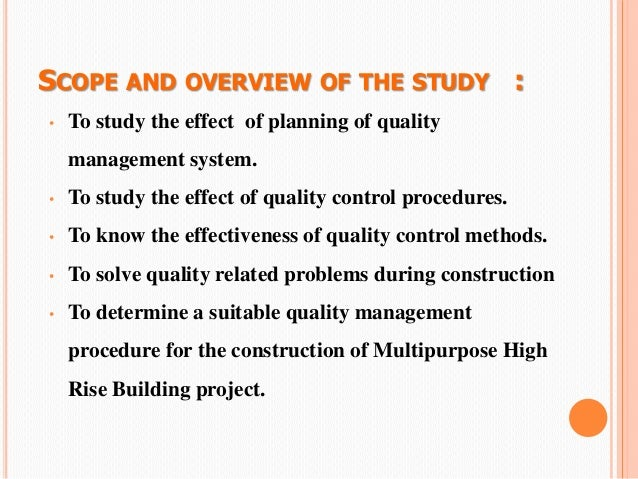 food quality control thesis