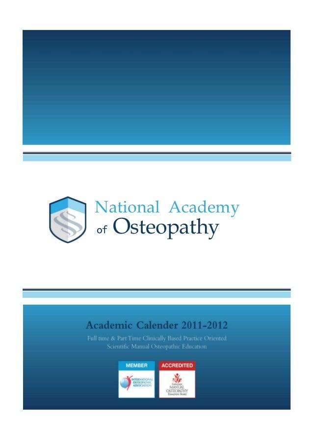 National Academyof   Osteopathy