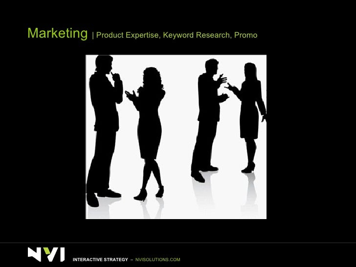Marketing    Product Expertise, Keyword Research, Promo INTERACTIVE STRATEGY  –  NVISOLUTIONS.COM