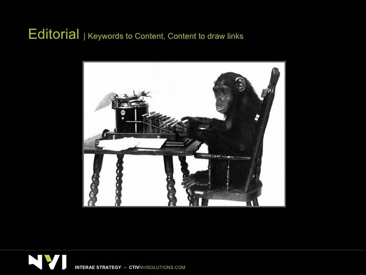 Editorial     Keywords to Content, Content to draw links INTERAE STRATEGY  –  CTIV NVISOLUTIONS.COM