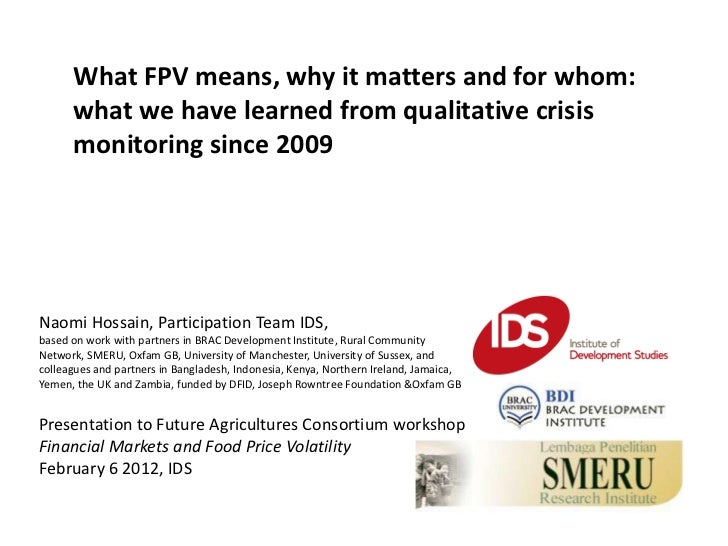 What FPV means, why it matters and for whom:      what we have learned from qualitative crisis      monitoring since 2009N...
