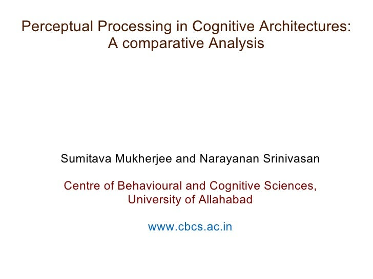 Perceptual Processing in Cognitive Architectures: A comparative Analysis <ul><ul><li>Sumitava Mukherjee and Narayanan Srin...