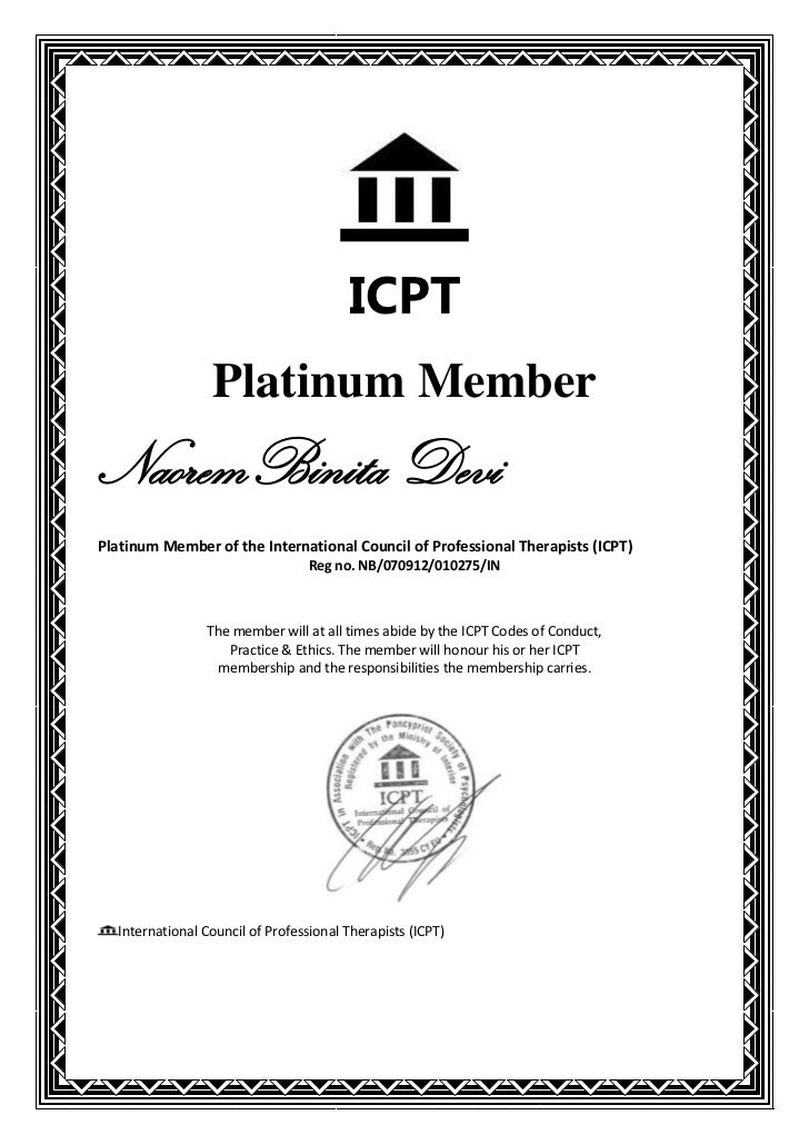 ICPT                 Platinum MemberNaoremBinita DeviPlatinum Member of the International Council of Professional Therapis...
