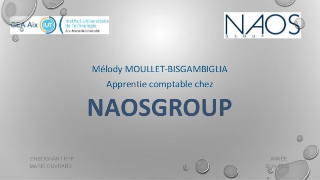 ENSEIGNANT PPP ANNÉE MARIE OUVRARD 2014-2015 Mélody MOULLET-BISGAMBIGLIA Apprentie comptable chez NAOSGROUP