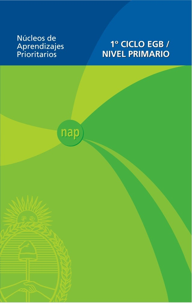 Núcleos de Aprendizajes Prioritarios Primer Ciclo EGB / Nivel Primario  1  Presidente de la Nación  Dr. Néstor Kirchner  M...