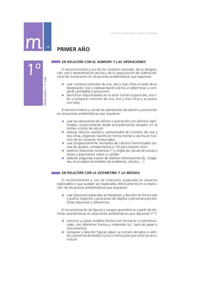 Núcleos de Aprendizajes Prioritarios Primer Ciclo EGB / Nivel Primario  17  1º La diferenciación de distintas magnitudes y...