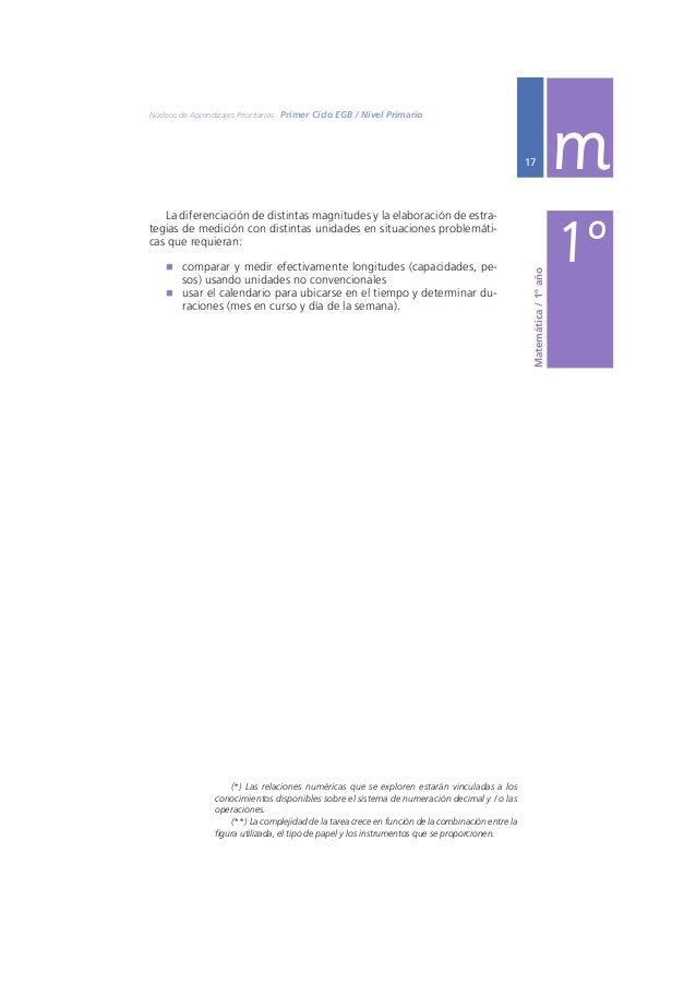 Ministerio de Educación, Ciencia y Tecnología  m  18  SEGUNDO AÑO EN RELACIÓN CON EL NÚMERO Y LAS OPERACIONES  El reconoci...