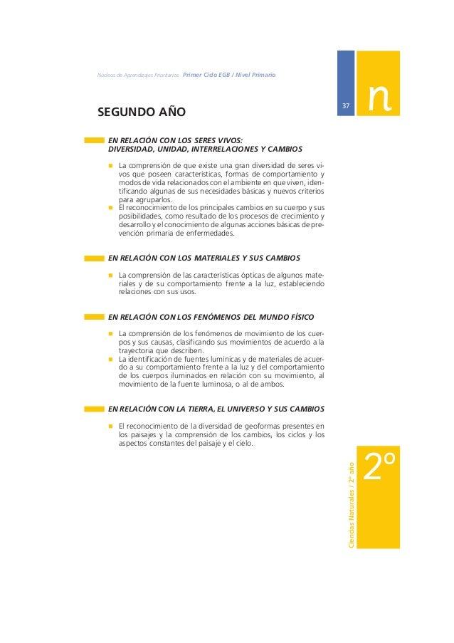 Ministerio de Educación, Ciencia y Tecnología  38  EN RELACIÓN CON LOS SERES VIVOS:  DIVERSIDAD, UNIDAD, INTERRELACIONES Y...