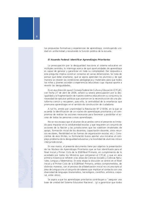 Núcleos de Aprendizajes Prioritarios Primer Ciclo EGB / Nivel Primario  9  los habitantes alcancen competencias, capacidad...