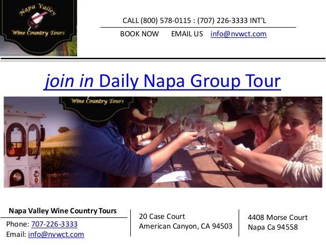 Napa Valley Wine Tours Slide 2