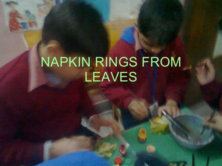 NAPKIN RINGS FROM LEAVES