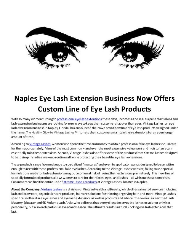 Naples Eye Lash Extension Business Now Offers Custom Line Of Eye Lash
