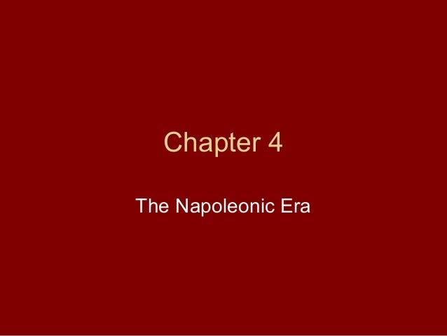 Chapter 4 The Napoleonic Era